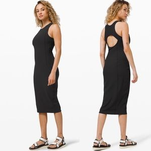 Lululemon Brunch And Back Dress Black Sz 4